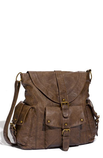 Omg i've been searching for months for an affordable large (enough for art supplies/sketchbooks) crossbody (faux) leather bag! Nordstrom $38.00, Yes please!