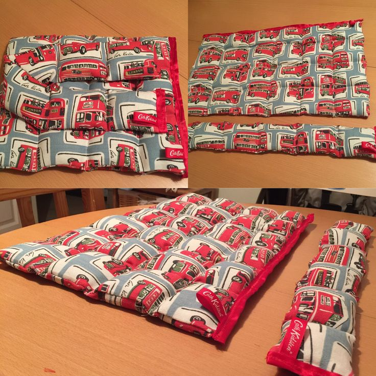 Sensory handmade weighted lap blanket and neck wrap I made for my Autistic Son