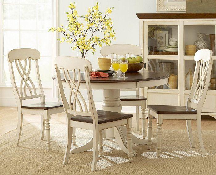 Ohana White Round Dining Room Set Casual Dinette Sets Amazing Decor Round Kitchen Table Set