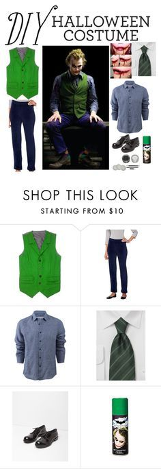 """Halloween DIY costume : The Joker"" by emma-directionner-r5er ❤ liked on Polyvore featuring Susan Graver, Orlebar Brown, Jil Sander, Halloween and diycostume"