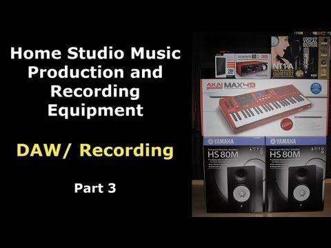 Choosing your Home Studio Recording Software - DAW Part 3 of the Home Studio Recording and Music Production Equipment video series.