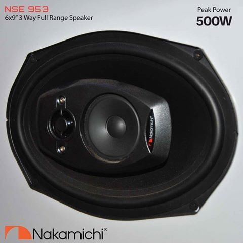 NSE series premium #speakers produce clear detailed sound that is unheard of in conventional car audio speakers. NSE953 is a 6 x 9 inch 3 way speaker with 35W #RMS, peak power of 500W.   #NakamichiSA #InCarEntertainment #CarAudio