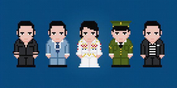 Elvis Presley Digital PDF Cross Stitch by AmazingCrossStitch