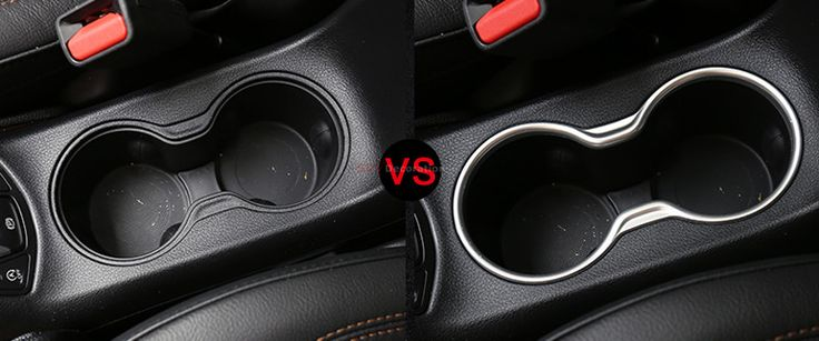 Accessories nEW Matte Interior Seat Water Cup Holder Frame Cover 1pcs  Fit  for Jeep Compass 2017 2018  Accessories