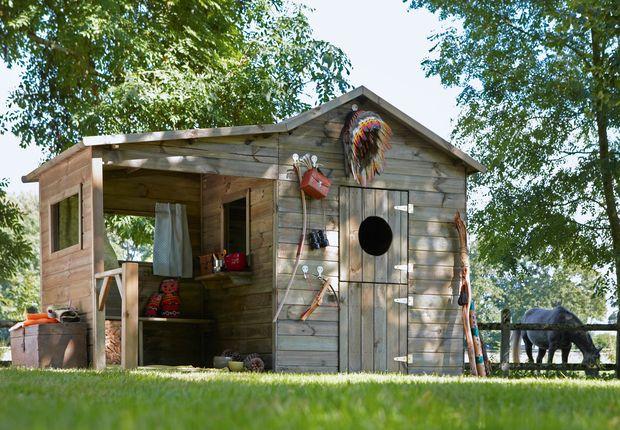"Hacienda, l'abri de jardin Leroy merlin Abri ""hacienda"" en pin traité autoclave, surface 2,97 m2 379 euros. Leroy Merlin."
