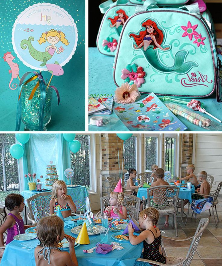 Little mermaid birthday party decoration ideas mermaid for Ariel birthday decoration ideas