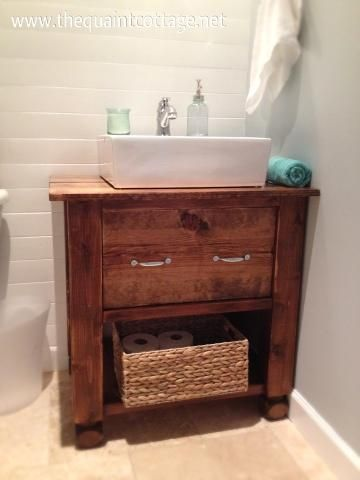 Website With Photo Gallery alexia dives posted The Quaint Cottage DIY Vanity Sink Base to their bath ideas postboard via the Juxtapost bookmarklet