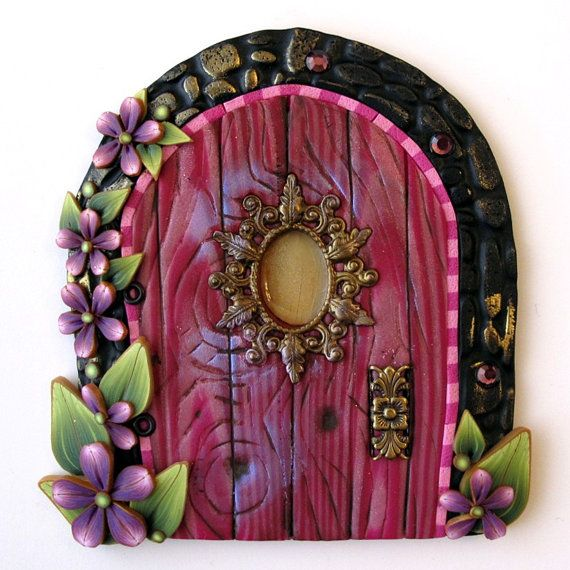 Pink princess fairy door kids home decor wall art doors for Fairy door for wall