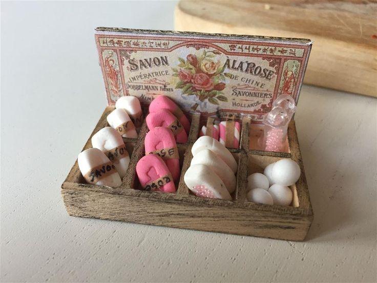 Fransk vintage tvålbox i trä med handgjorda tvålar på Tradera.com -
