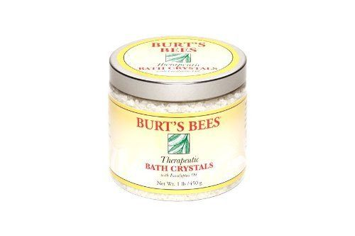 Burt's Bees Therapeutic Bath Crystals, 16 Ounce Jars by Burt's Bees. $9.56. Helps muscles feel as good as new. Penetrating action of essential oils helps stimulate the elimination of waste products. Help release the lactic acid that builds up during physical activity causing muscle ache. Indulging in a warm bath of salt crystals and essential oils after a workout helps to relieve and prevent muscle aches. That's because natural lemon oil, rosemary, and eucalyptus hel...
