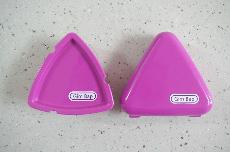 Triangle-shaped Mold / Container for Samgak Kimbap Making, Onigiri Nori Laver…