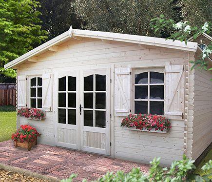 Caseta de madera de 22 40 m2 crecy casa acabados for Caseta jardin leroy merlin