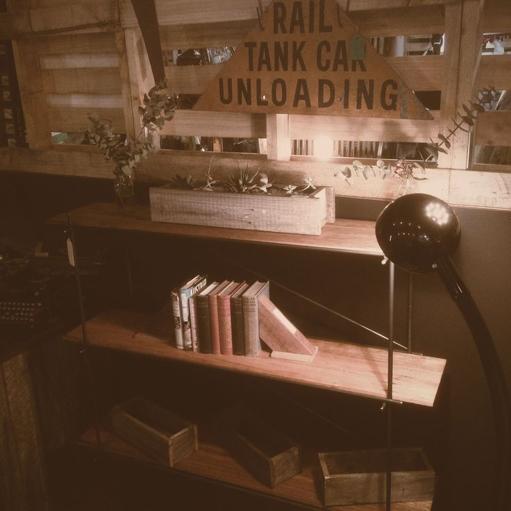 """Newly made, """"hair pin"""" style display/bookcase."""