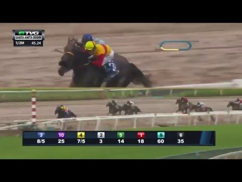 RACE REPLAY: 2016 Santa Anita Derby Featuring Exaggerator - YouTube