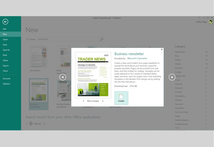 Microsoft's Best Free Templates for Publisher: Newsletter Template or Printable for Microsoft Publisher