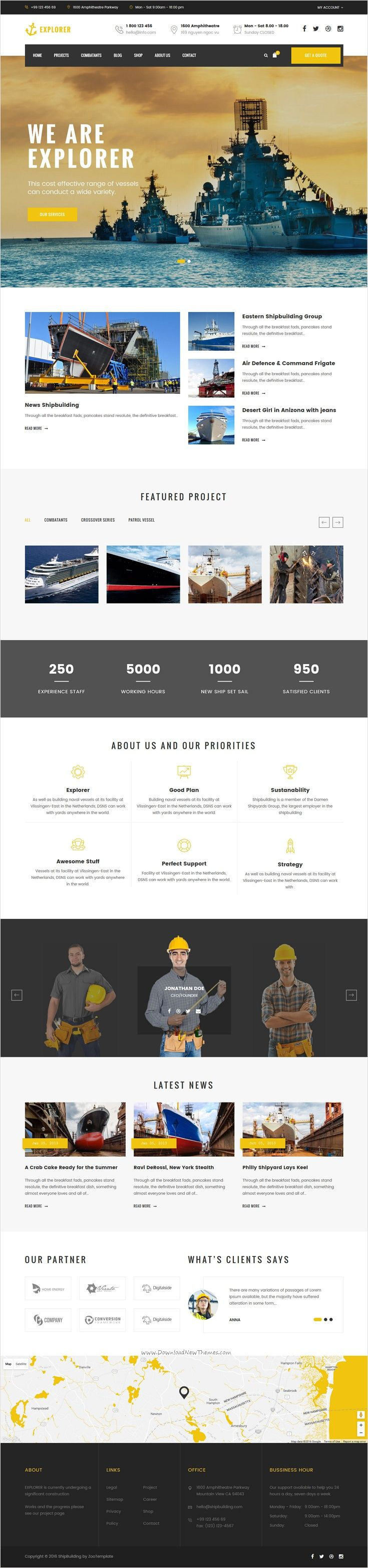 Explorer is a perfect responsive 3 in 1 #Joomla Template for Ship #Business, #Fa…