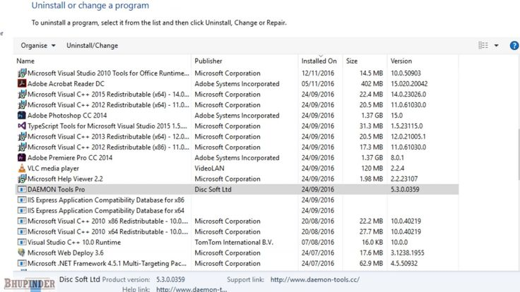 How to uninstall daemon tools in windows 10