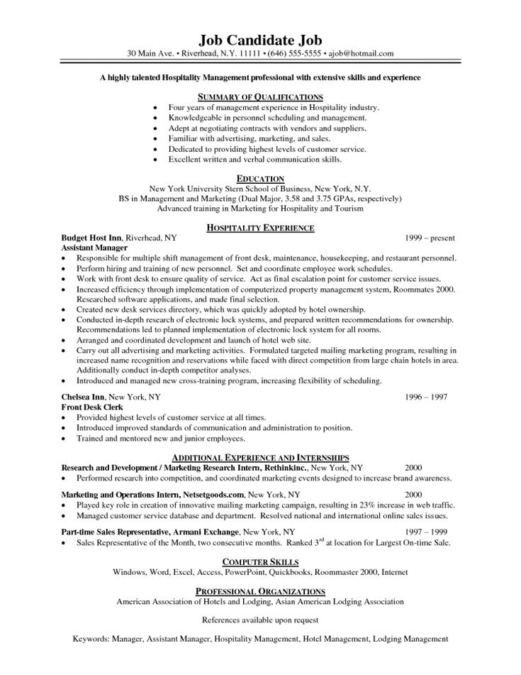 The 25+ best Sample objective for resume ideas on Pinterest - resume for hospital job