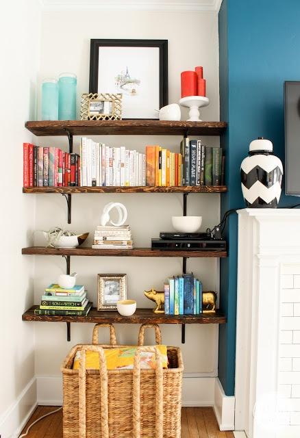 beautifully styled shelves by @Michael Dussert Dussert Dussert Wurm, Jr. {inspiredbycharm.com}