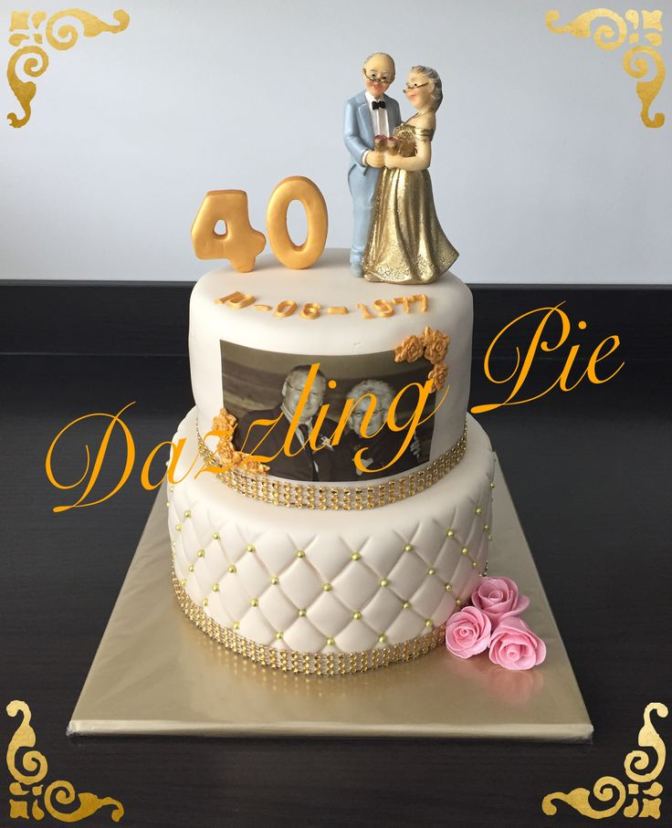40th anniversary wedding cake made by Dazzling Pie