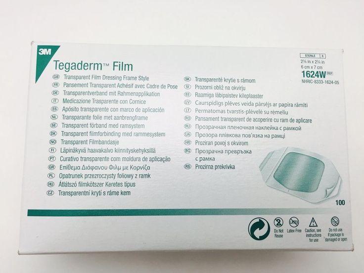 "3M Tegaderm 2 3/8""x2 3/4"" Transparent Film 1624W Box of 100+Free 1 4inch Film #3M"