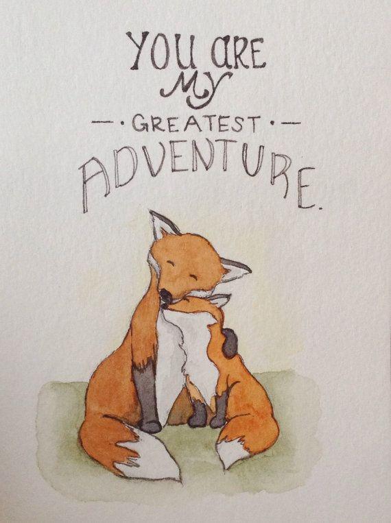 Vous êtes ma plus grande aventure renards par WoodWrenTales sur Etsy