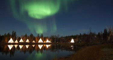 Aurora Village... best place in North America to view the Northern Lights