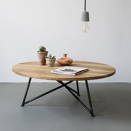 Oak & Iron Coffee Table by NUTSANDWOODS #MONOQI