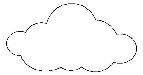 large cloud pattern  use the printable outline for crafts  creating stencils  scrapbooking  and