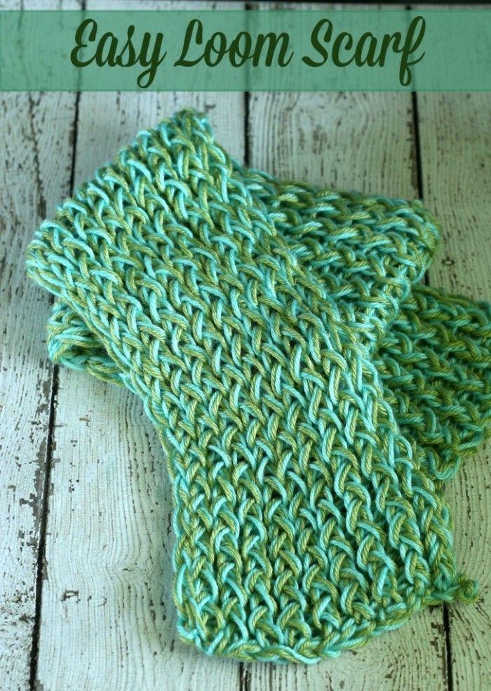 DIY Easy Loom Knitting Scarf