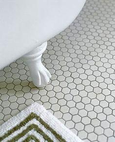 Bathroom Flooring Ideas. Hexagon Floor TileHoneycomb ...