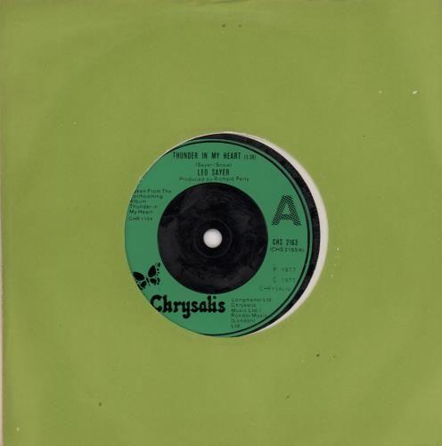 "Leo Sayer Thunder In My Heart 7"" vinyl single (7 inch record) UK LSY07TH573458"