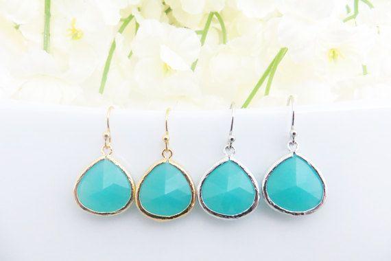 Turquoise Earrings for Women Turquoise Earrings Set of 2 4