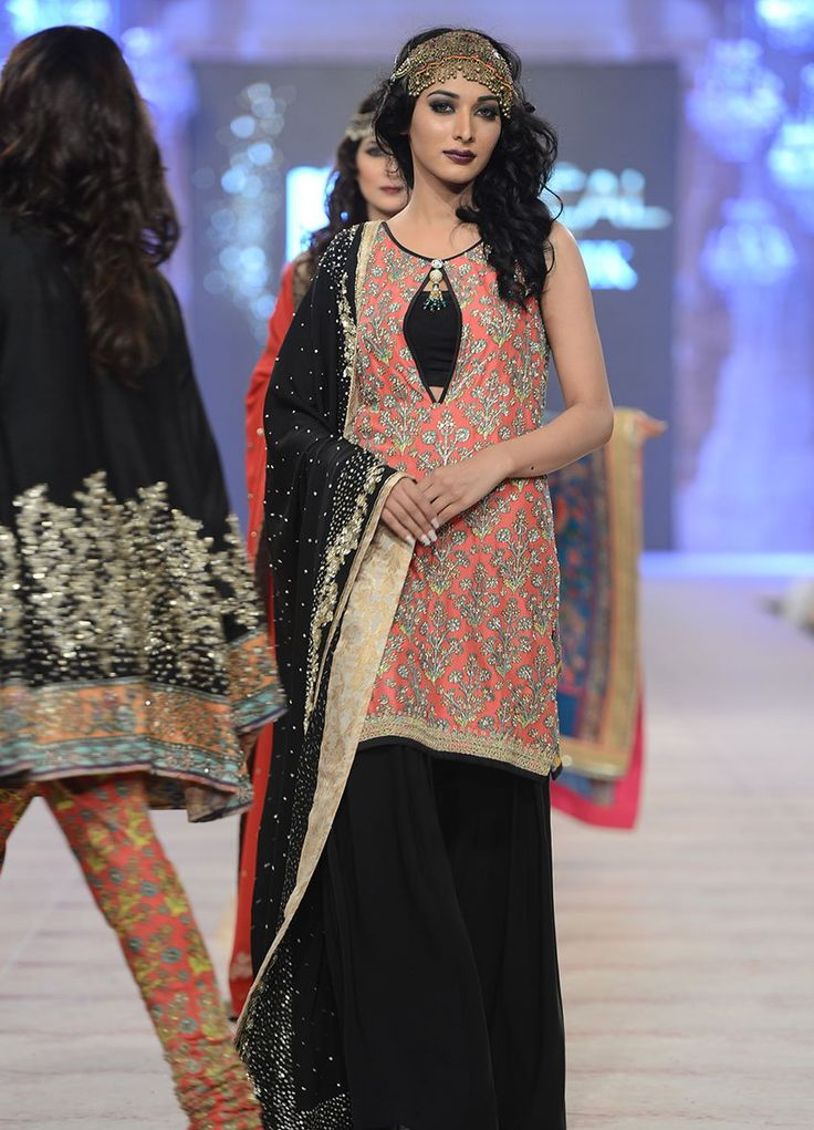 How cute is this outfit? Complete fusion wear. Seen at PFDC L'Oreal Paris Bridal Week 2014