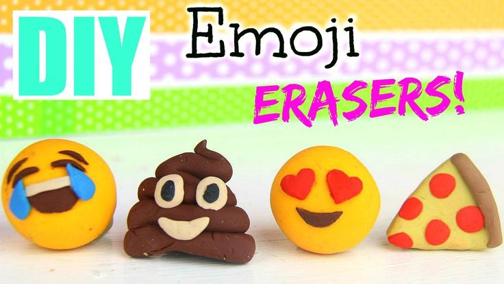 Make your very own distinctive Emoji Erasers! This video tutorial shows you how from start to finish.enjoy.