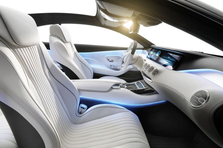 mercedes s-series coupe interior with 3D printed parts