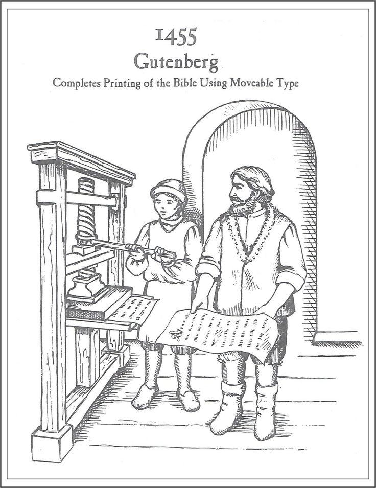 gutenberg printing press diagram
