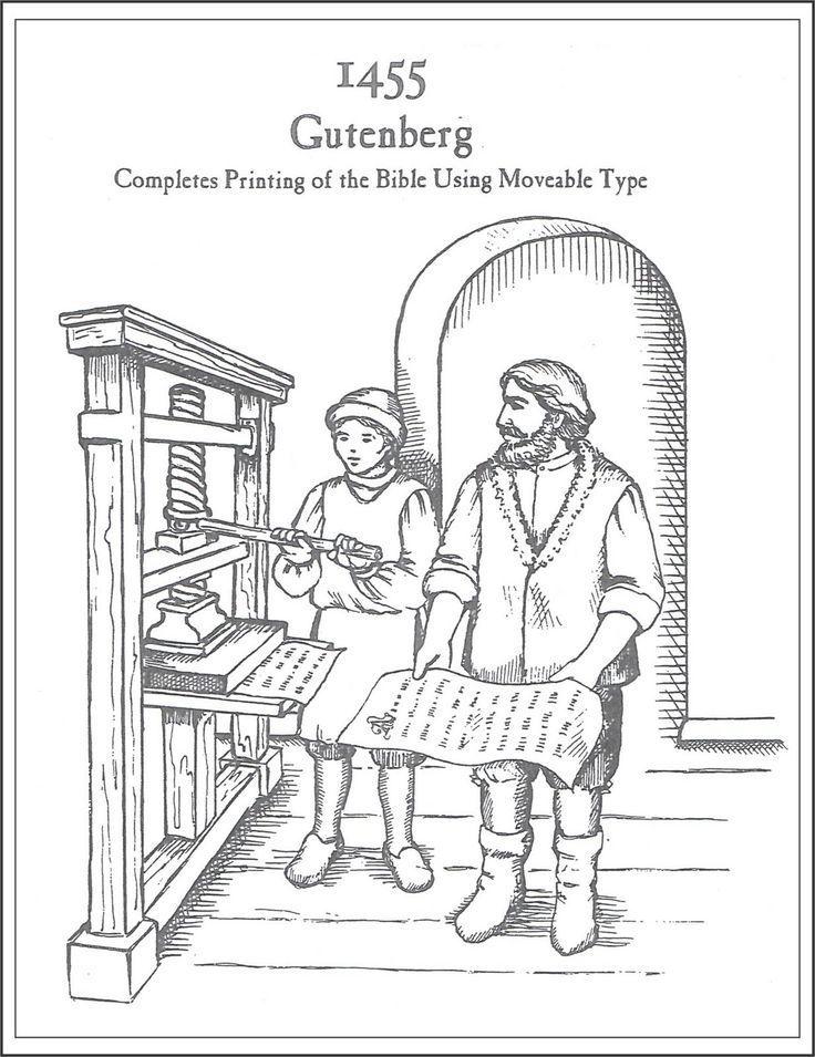 gutenberg printing press diagram