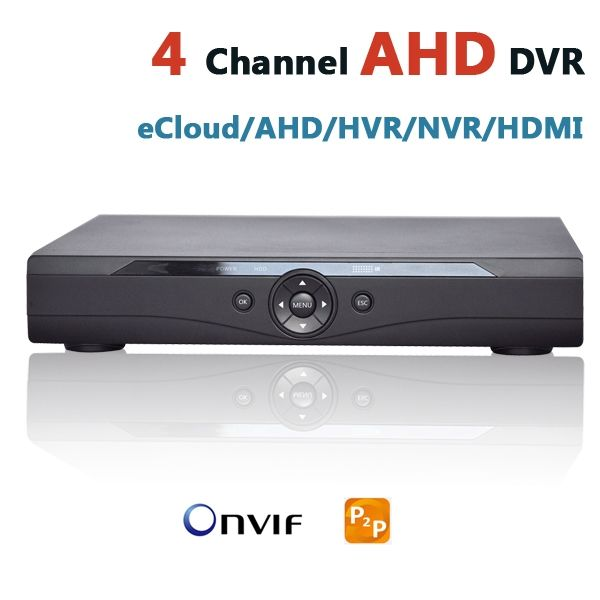 87.40$  Buy now - http://aliou4.worldwells.pw/go.php?t=32374571254 - AHD DVR 4 Channel CCTV Recorder 4Ch HD Camera DVR Security Hybrid HVR NVR For 720P AHD  & Analog +IP Security Camera HD System