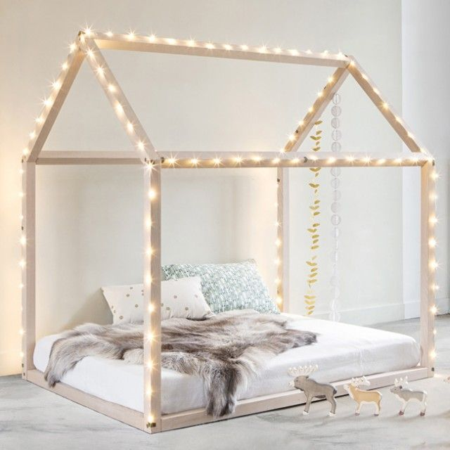 les 25 meilleures id es de la cat gorie lit cabane sur pinterest tete de lit enfant literie. Black Bedroom Furniture Sets. Home Design Ideas