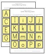 alphabet letter matching game