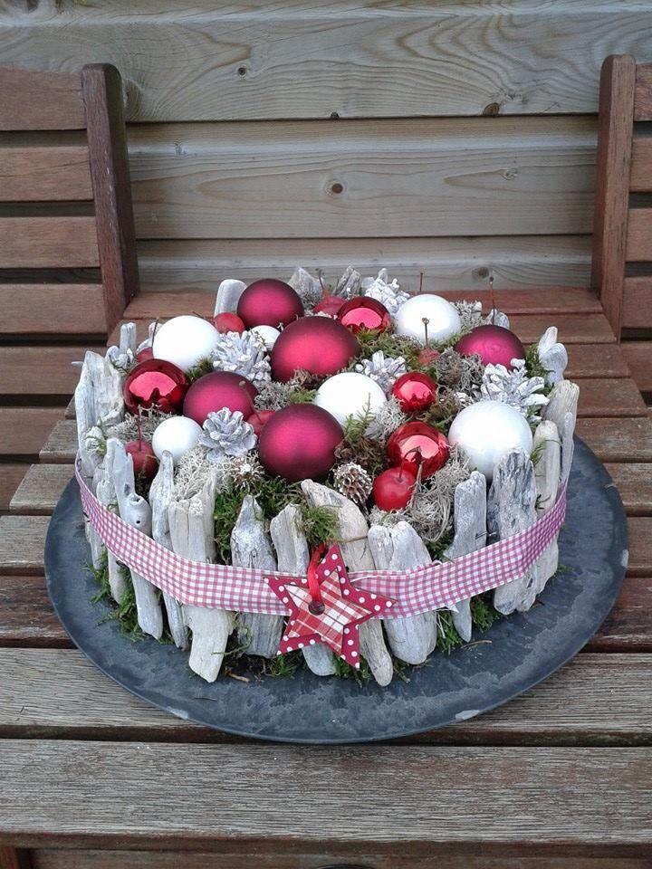 Kerststuk taart