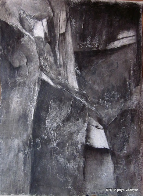 "'on a grey note', water-soluble graphite on watercolour paper, 16x20"" ©2012 priya vadhyar"