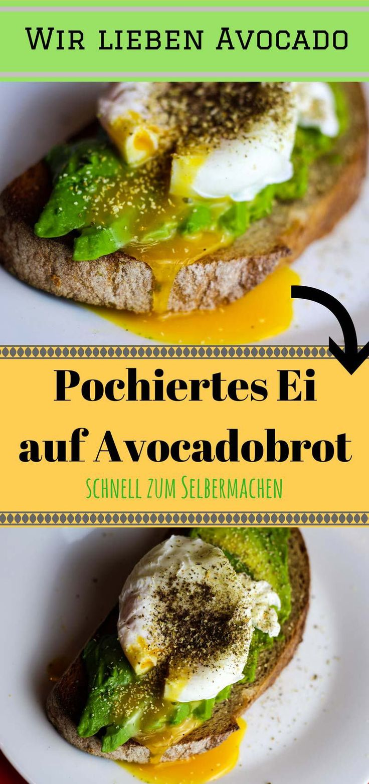 Food Trend: Pochiertes Ei auf Avocadobrot