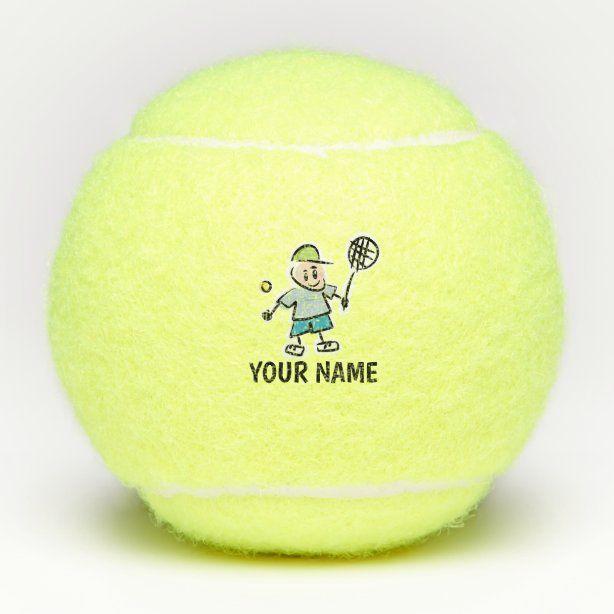 Custom Yellow Tennis Ball For Kid S Birthday Party Zazzle Com In 2020 Kids Birthday Party Kids Birthday Tennis Ball
