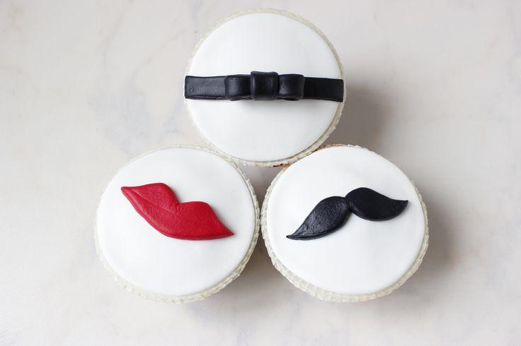 Sevgililer Günü dudak&bıyık temalı cupcakeler... Sevgililer Günü hediyeleri, fikirleri; Valentines Day Gifts, Ideas