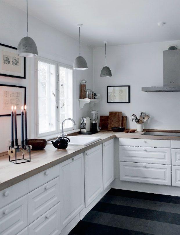 white classical Scandinavian kitchen