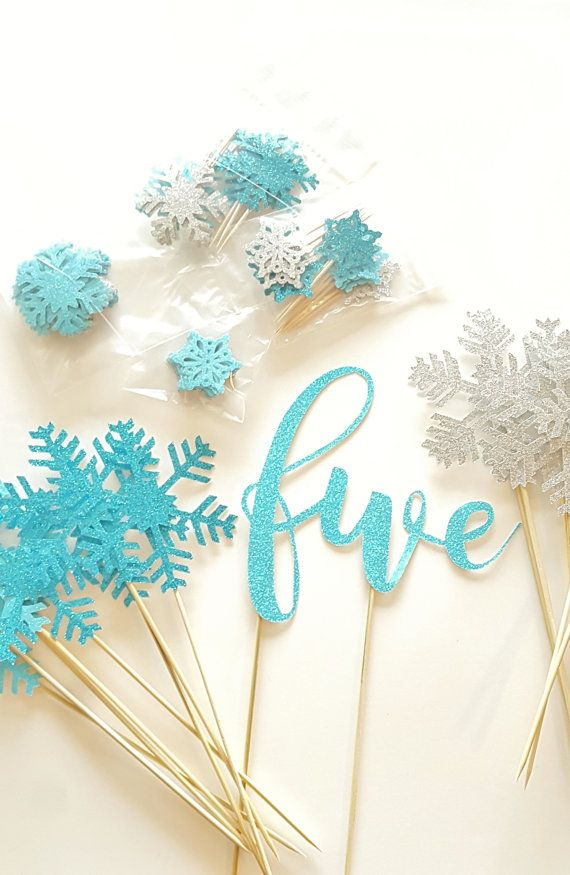 Snowflake Birthday Party Set: Glitter, Frozen Party Decoration, Birthday Party Decor, Baby Shower Theme 18 COLORS Winter Wonderland