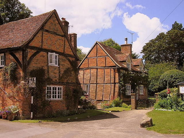 Turville, Buckinghamshire, UK is the setting for The Vicar of Dibley, Chitty Chitty Bang Bang, Goodnight Mister Tom and Midsummer Murders