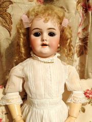 德國古董濃湯瓷頭娃娃 阿爾芒 馬賽 活眼關節 超可愛萌妹 Maggie